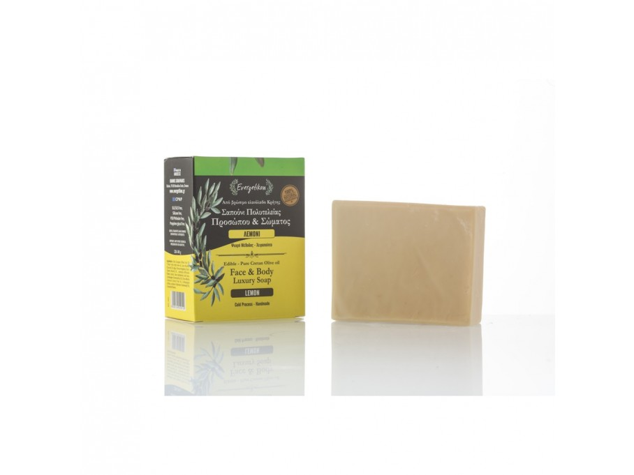 Edible-Pure Cretan Olive oil Face & Body Soap Lemon
